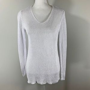 EILEEN FISHER Knit Sweater 100% linen